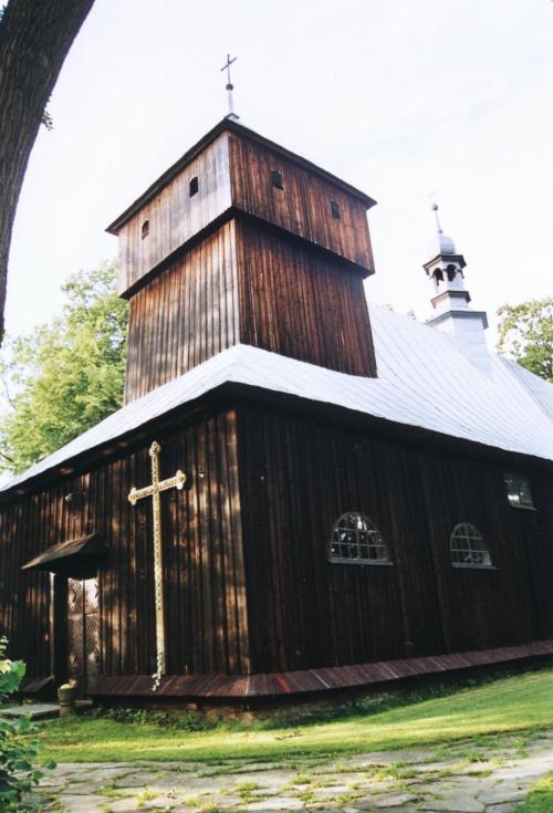 Dobra - kościół św. Szymona i Judy Tadeusza #Dobra #KościółDrewniany #SzlakArchitekturyDrewnianej