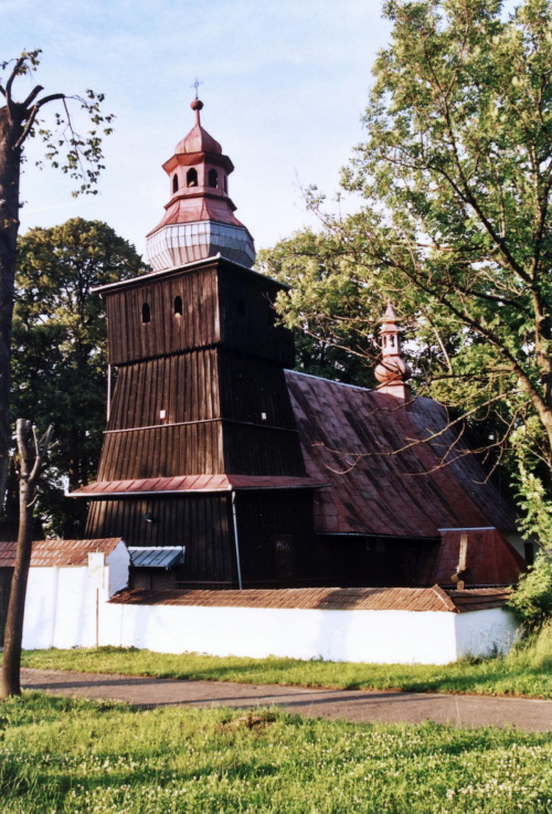 Skrzydlna - kościół św. Mikołaja #Skrzydlna #KościółDrewniany #SzlakArchitekturyDrewnianej