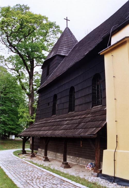 Rachowice - kościół św. Trójcy #Rachowice #KościółDrewniany #SzlakArchitekturyDrewnianej