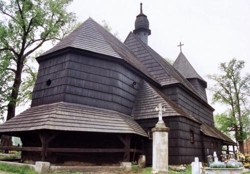 Sierakowice - kościół św. Katarzyny Aleksandryjskiej #Sierakowice #KościółDrewniany #SzlakArchitekturyDrewnianej