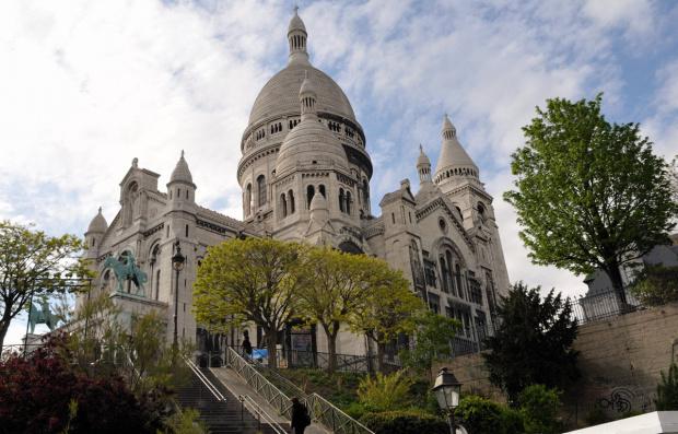 Paryż - Sacre Coeur na wzgórzu Montmartre #SacreCoeur #Montmartre