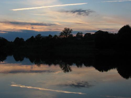 #zalew #niebo #ZachódSłońca