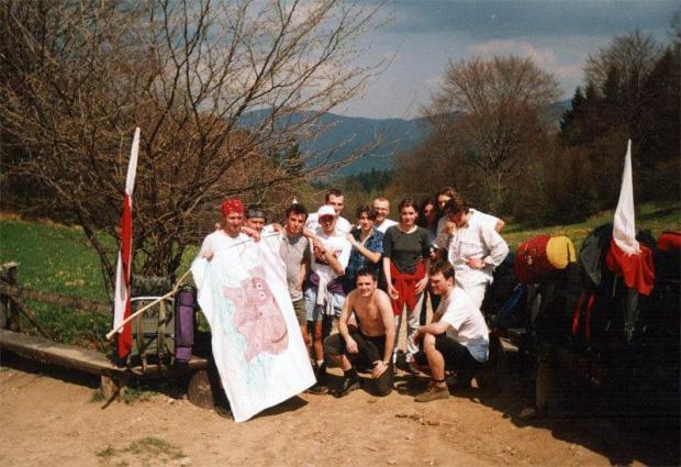 """36 """"Elefantowy"""" Rajd PK - Rytro 1998 - 30.04.1998 - Przełęcz Szopka w Pieninach #wspomnienia #studia"""