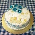 Tort na 1 Rocznicę Komunii #komunia #tort #kościół #aniołek