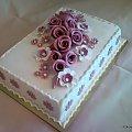 #wesele #tort #impreza #fiolet #róże
