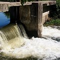 ciut, za miastem ... :)) #woda #rzeka #Kłodnica #wodospad #Sławięcice