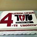 4 - te urodziny restauracji TUTU #tort #firmowy #firma #logo #urodziny