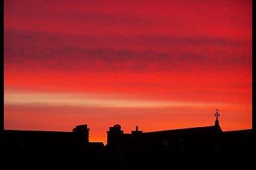 ...chwila po zachodzie słońca.., (pożegnam się na kilka tygodni, dłuższy urlop w ojczyznie:) pozdrawiam Was wszystkich).