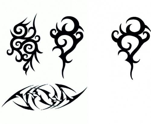 Te 3 tribale po lewej to są wzory i z jednego z nich zrobiłem ładnego tribala który jest widoczny po prawej ;-) CorelDRAW x5 ;P