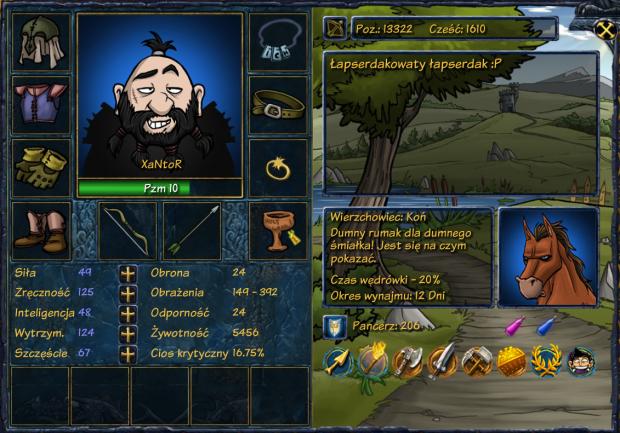 Jakby ktoś pytał co to: To jest moja postać w grze Shakes & Fidget. Zrobiłem screenshota do forum bo chcę dołączyć go gildii :))