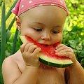 Maja z arbuzem #Maja #arbuz #dzieci #portret