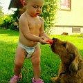 Podzielę się z tobą - mój przyjacielu :) #Maja #dzieci #jamniki #psy #zwierząta #arbuz #przyjaciele