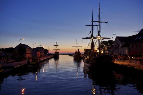 #Darłówko #niebo #wieczór #port #statki