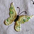 haft płaski, motyl #HaftPłaski #motyl #rekodzieło #HaftCieniowany