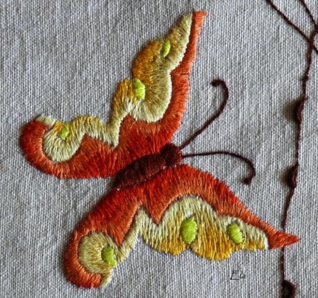 haft płaski motyl #HaftPłaski #rękodzieło #motyl