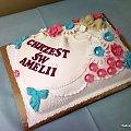 Torcik dla Amelki na chrzest #tort #chrzciny #amelka #dzidziuś