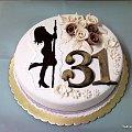 Torcik na 31 urodziny #tort #imieniny #pan #dziewczyna #laska