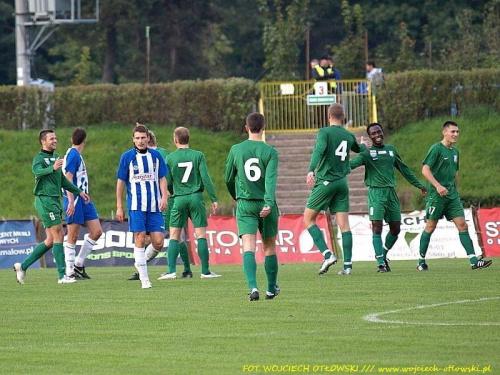 radość piłkarzy po bramce Zjawińskiego na 0:2 #mecz #IILiga #WigrySuwałki #ŚwitNowyDwórMazowiecki