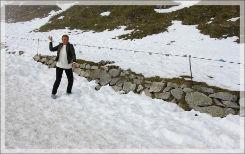 Zabawa w śnieżki na Kasprowym...