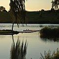 #brzoza #drzewa #kaczki #pomost #ZachódSłońca #zalew