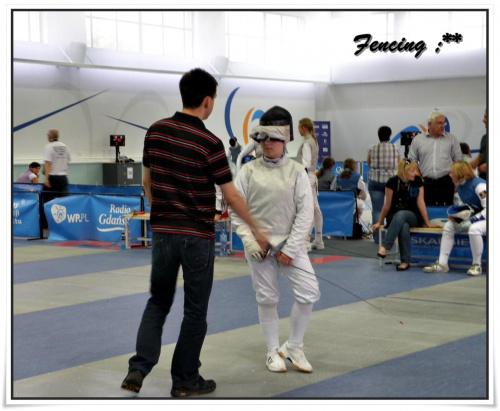 Ja z trenerem na zawodach szermierczych.. ;)) Gdańsnk 2010