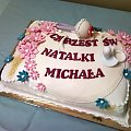 torcik na chrzciny Natalki i michała #chrzciny #tort #smoczek #grzechotka