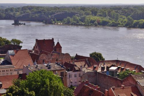 Toruń- widok z wieży kościoła #Toruń