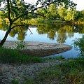 Zakole Warty w ok. Lubonia, widać naniesiony piasek, może będzie półwysep. #krajobraz #rzeka #Warta