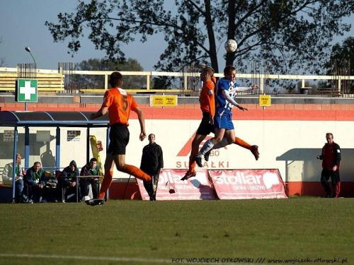 Wigry Suwałki - OKS Olsztyn 2:2, mecz II ligi, 9 października 2010 #WigrySuwałki #OKSOlsztyn #mecz #IILiga