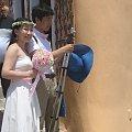 Santorini stała się modna dla nowożeńców, nie ma co sie dziwić w tych pastelowych barwach miłość ma prawo kwitnąć - Oia Santorini #Kreta #wyspa #Santorini #wyprawa #natura #mozre #ocean #zatoka #port #domy #biale #kolory #romantycznie