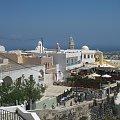 miasto Oia na Santorini #Kreta #wyspa #Santorini #wyprawa #natura #mozre #ocean #zatoka #port #domy #biale #kolory #romantycznie