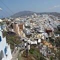 Stolica Santorini Thira tuż nad przepaścią #Kreta #wyspa #Santorini #wyprawa #natura #mozre #ocean #zatoka #port #domy #biale #kolory #romantycznie