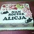 Torci na 1 Roczek Alicji #roczek #tort #mysz