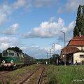 SU45-147 w Mirosławiu Ujskim w dniu 19.09.2010 #kolej #SU45 #Piła #Ujście #pociąg