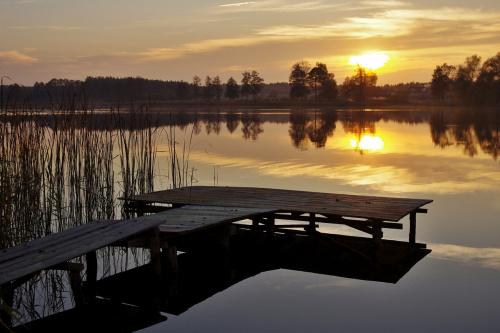 #jezioro #niebo #ZachódSłońca #Lubięcin