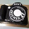 Aparat fotograficzny dla Przemka #SONY #aparat #fotografia #tort