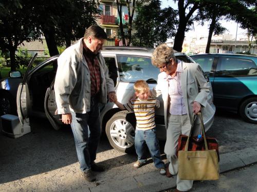 Pobyt wnusia u babci-przyjazd Michalka