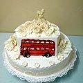 Tort weselny z angielskim Autobusem #Samochód #autobus #tort #wesele #ParaMłoda