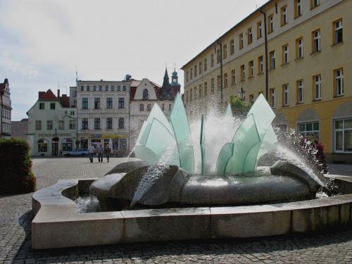 na żarskim Rynku #fontanna #Żary #Rynek
