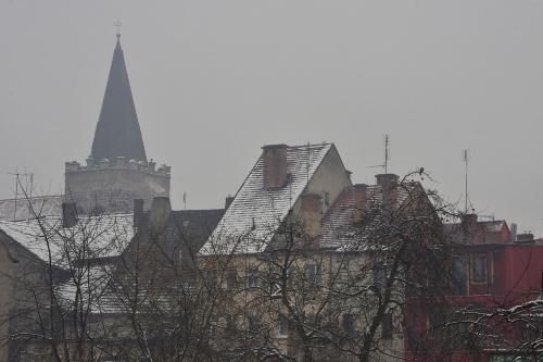 #Lubsko #dachy #domy #śnieg