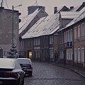 #Lubsko #listopad #ulica #domy #śnieg