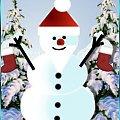 bałwanek wg tutka-dziadek.webd.pl #zima #śnieg #bałwanek #bałwan #scrapek #scrapki