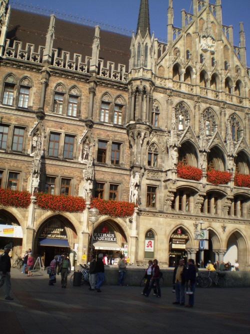 Monachium - ratusz na rynku