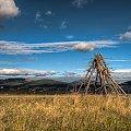 Polski Wezuwiusz - w uśpieniu... #wieś #góry #pole #natura #krajobraz #scenerie #HDR #arietiss