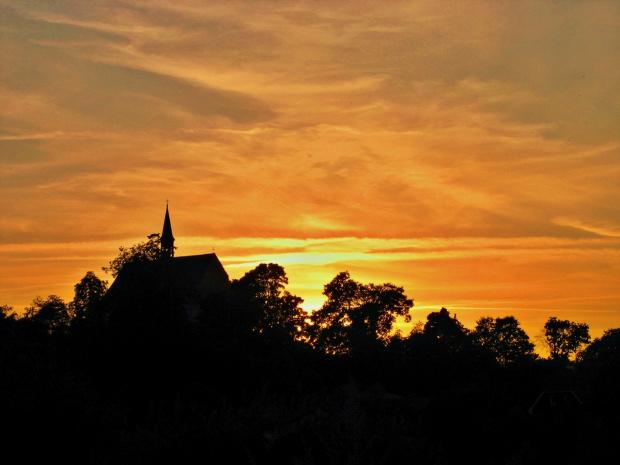 #kościół #Lubięcin #niebo #ZachódSłońca