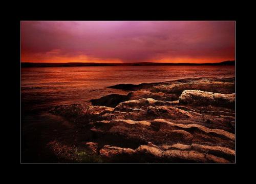 zachód słońca na Fornebu/Oslofjorden