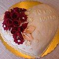 Serce na 10 -tą rocznicę ślubu #serce #tort #rocznica