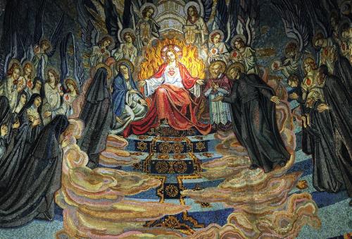 Mozaika z kaplicy Clod'a Colombiere w Parey le Monial - Francja
