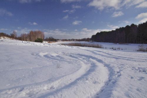 #zima #śnieg #zalew #niebo #styczeń