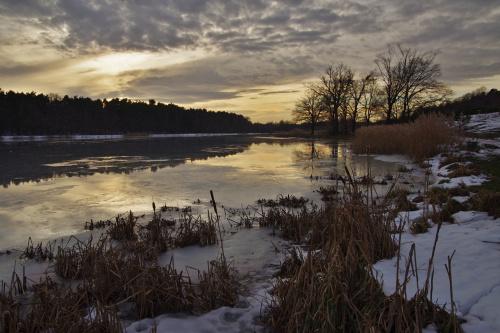 #zalew #odwilż #zima #styczeń #krajobraz #natura